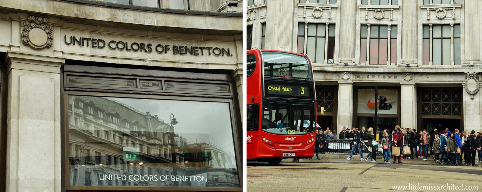 Londyn, Oxford street, nienachalne reklamy, londyński autobus
