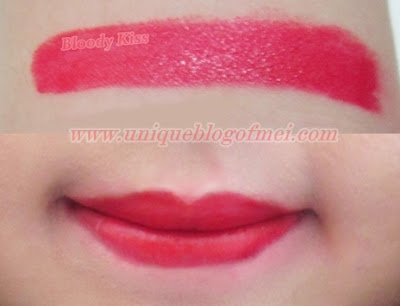 Too cool for school Glam Rock Vampire's Kiss in Bloody Red swatches