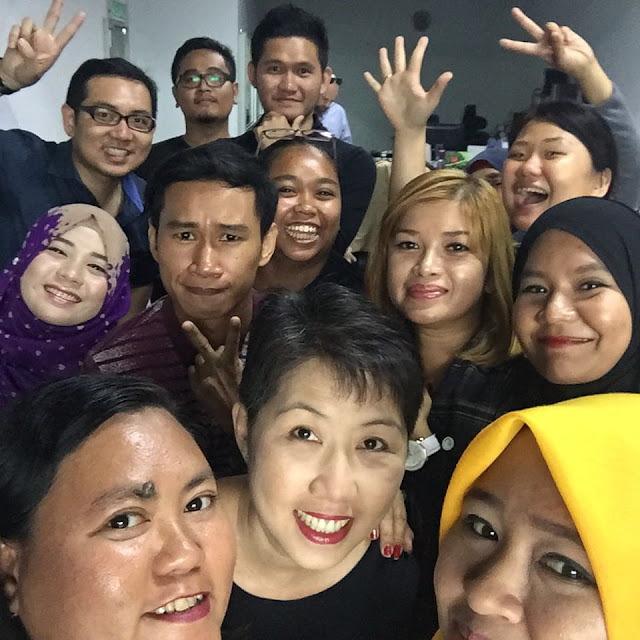 A wefie during our briefing session last week. All hyped up for this upcoming event