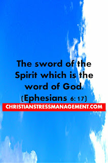 The sword of the spirit is the word of God (Ephesians 6:17)