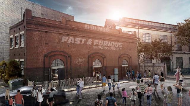 Prédio / Parte externa da nova atração de Velozes e Furiosos da Universal Orlando: Fast & Furious – Supercharged