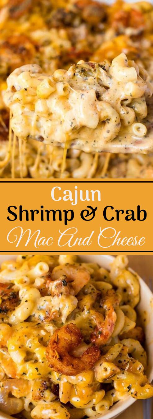 CAJUN SHRIMP AND CRAB MAC AND CHEESE #shrimp #cajun #crab #vegetarian #breakfast