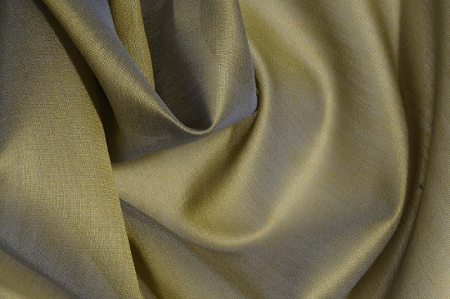 Sage Green Cotton Silk Fabric