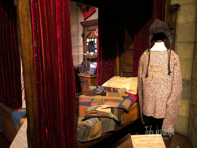 Exposición Harry Potter Valencia cuarto de Ron