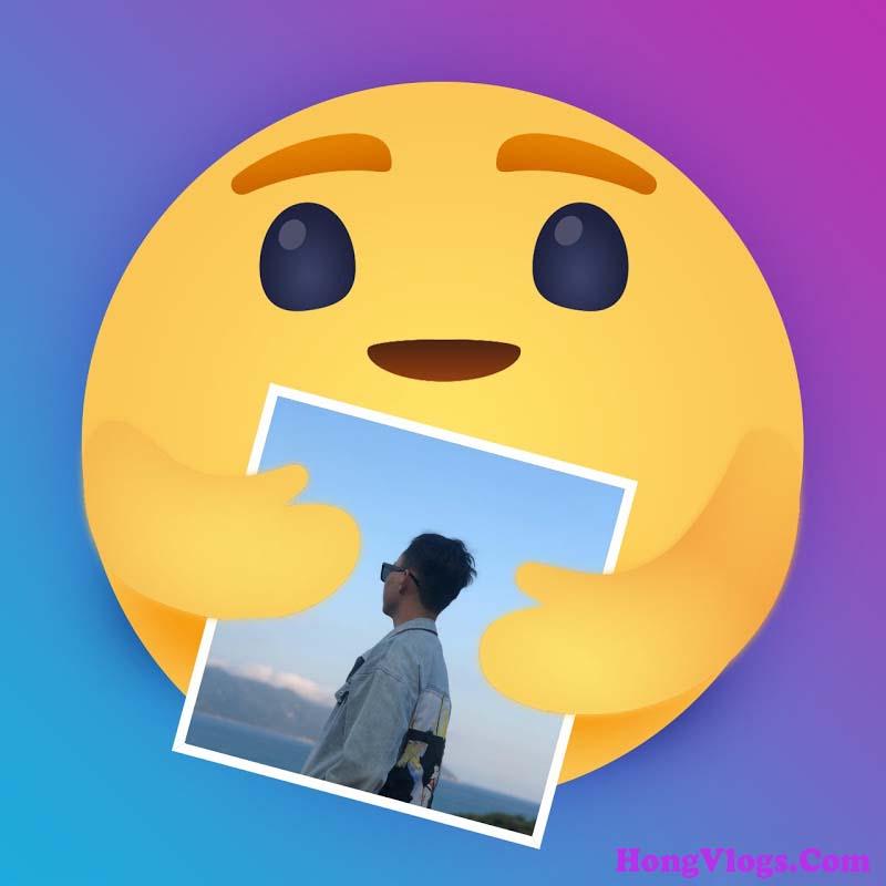 Tạo icon Thương Thương facebook đang ôm ảnh bạn