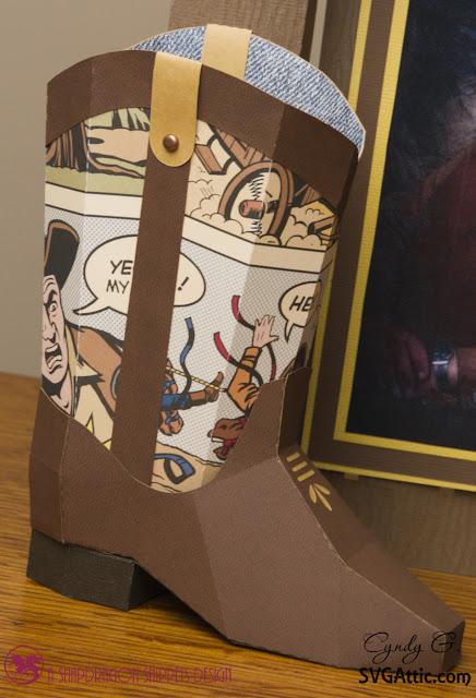 3d paper boot