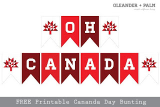Free printable Canada Day bunting