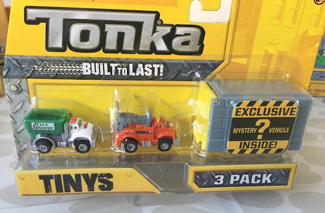 3 packet of Tonka Tiny Trucks in Packet