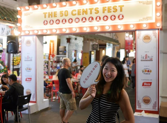 Discover the 50 cent food festival in Singapore