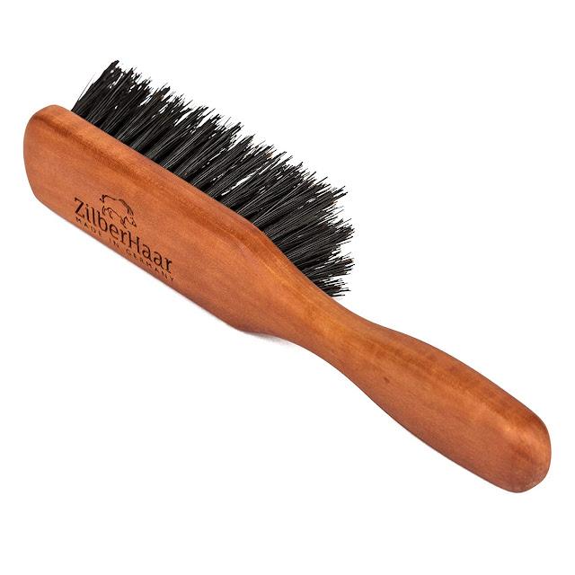ZilberHaar Beard Brush (Soft Bristles)  100% Boar Bristle & German Pearwood