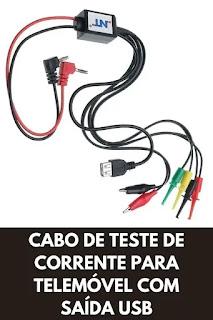 cabos de teste de corrente para telemóvel com saída de alimentação