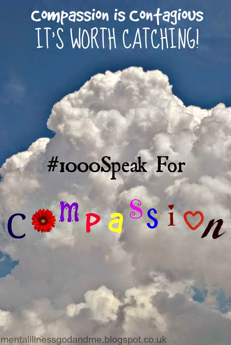"Quote ""Compassion is contagious, it's worth catching."" #1000speak mentalillnessgodandme.blogspot.co.uk"