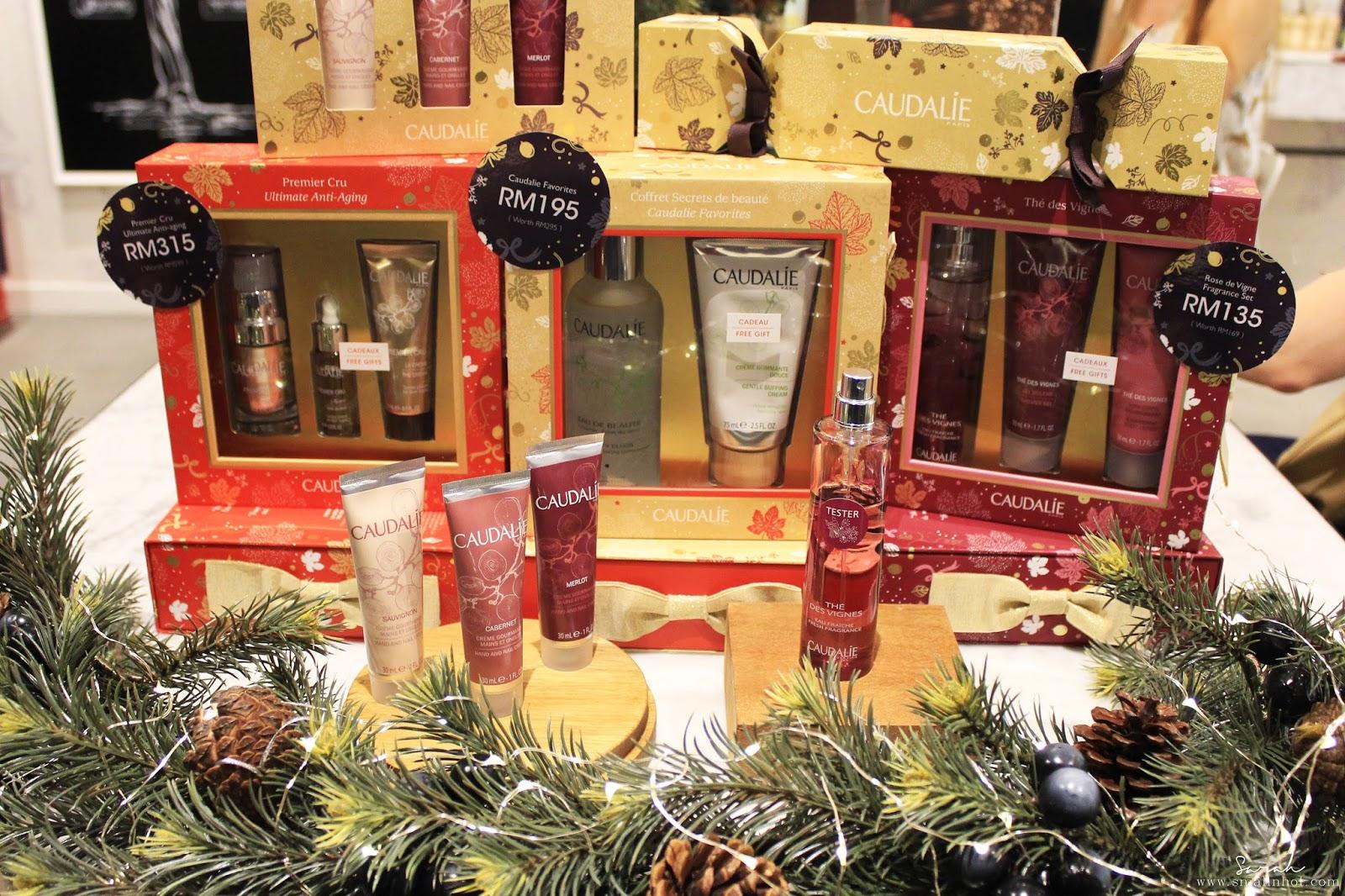 Caudalie christmas collection 2016; caudalie gift sets; caudalie holiday skincare collection; caudalie holiday