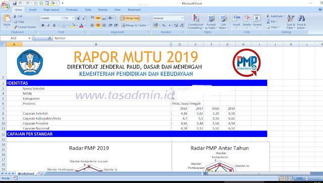 cetak raport mutu pmp 2019