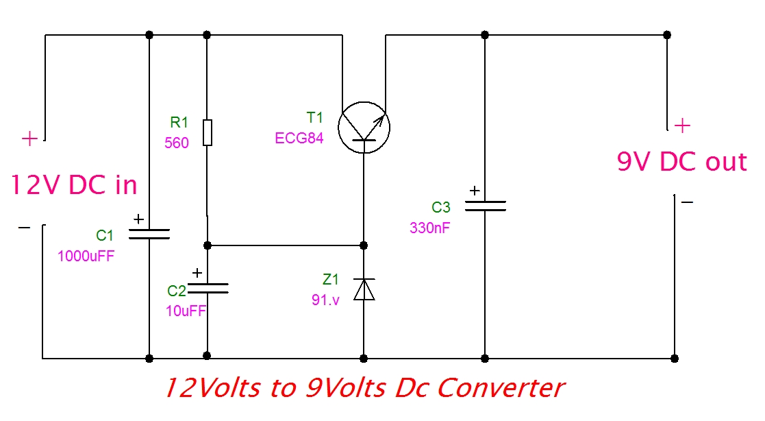 draw your wiring 12v to 9v converter circuit rh drawwiring blogspot com