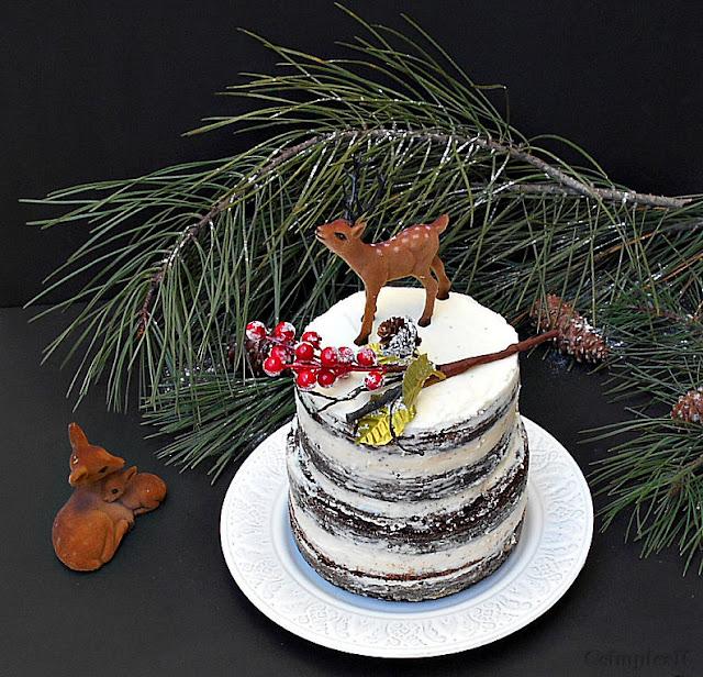 naked cake com queijo creme