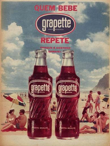 Propaganda antiga do Refrigerante Grapette veiculada em novembro de 1963