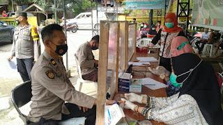62 Personel Polres Enrekang BKO  Pengamanan Pilkada Jalani Rapid Test