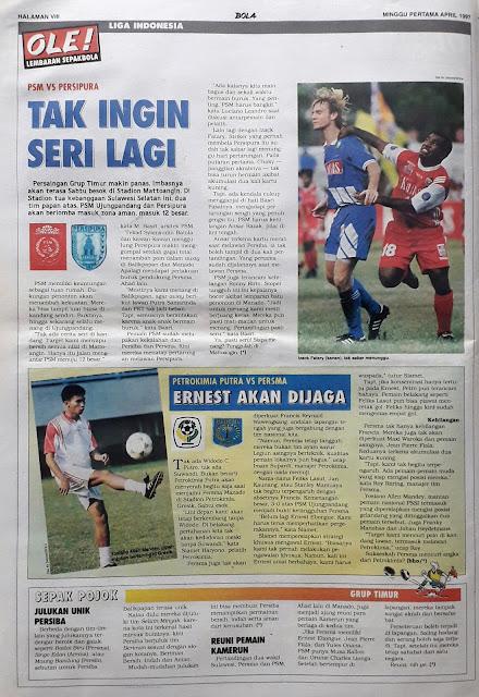 LIGA INDONESIA PSM VS PERSIPURA TAK INGIN SERI LAGI