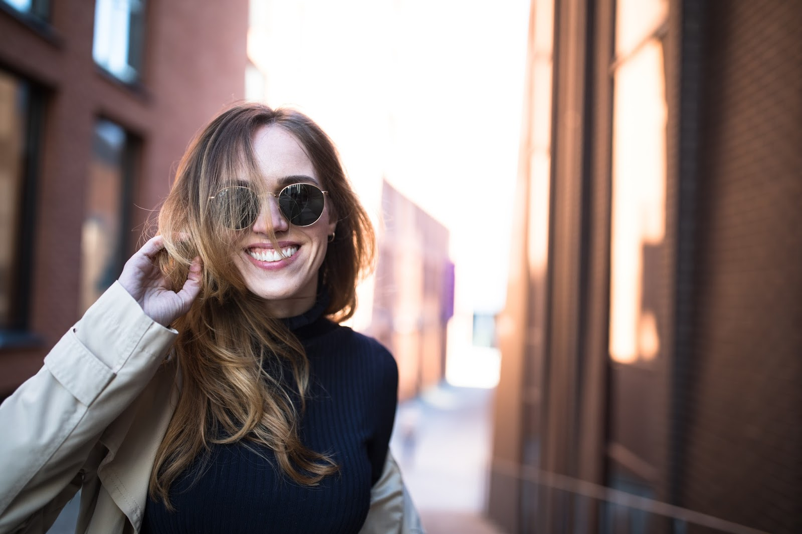 rayban round sunglasses outfit