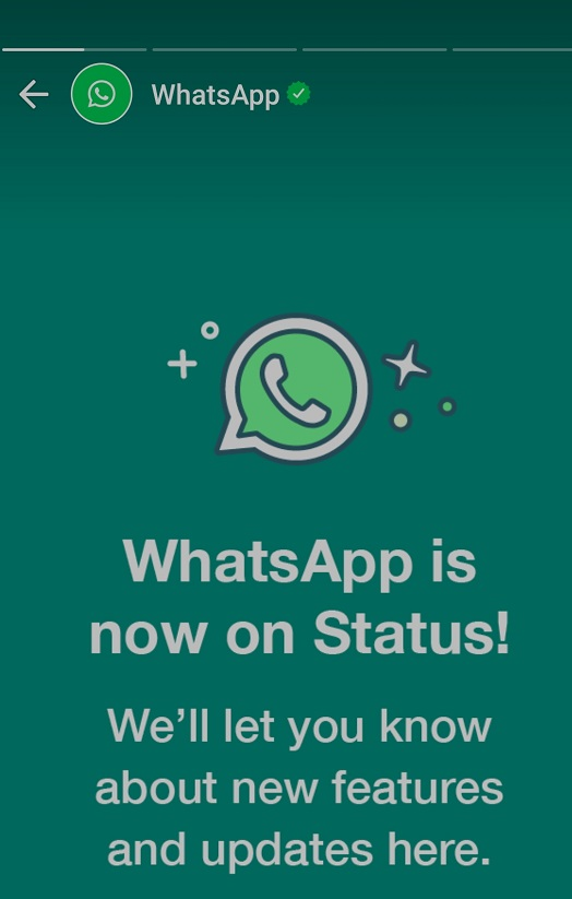 Officially, WhatsApp is Now on Your Status Update