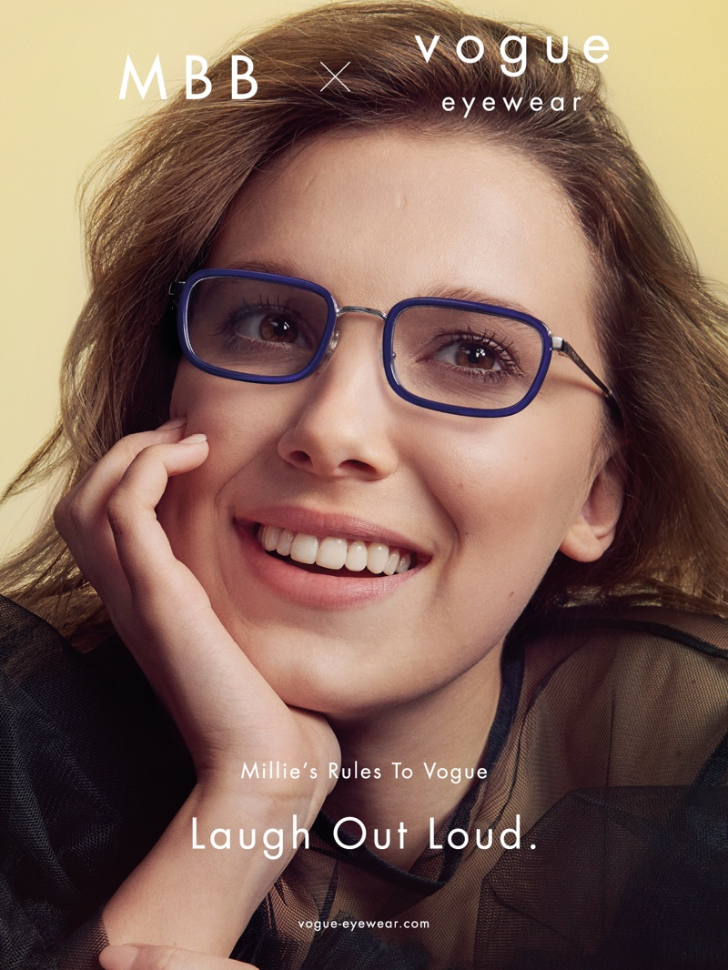 MILLIE BOBBY BROWN POSES FOR 2ND MBB X VOGUE EYEWEAR DROP