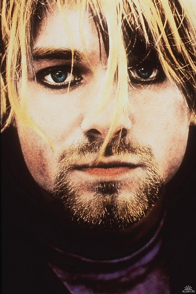 iPhone HD Background: Kurt Cobain Free iPhone Backgrounds