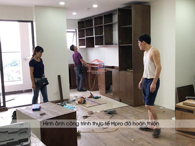 thời gian thi công tủ bếp