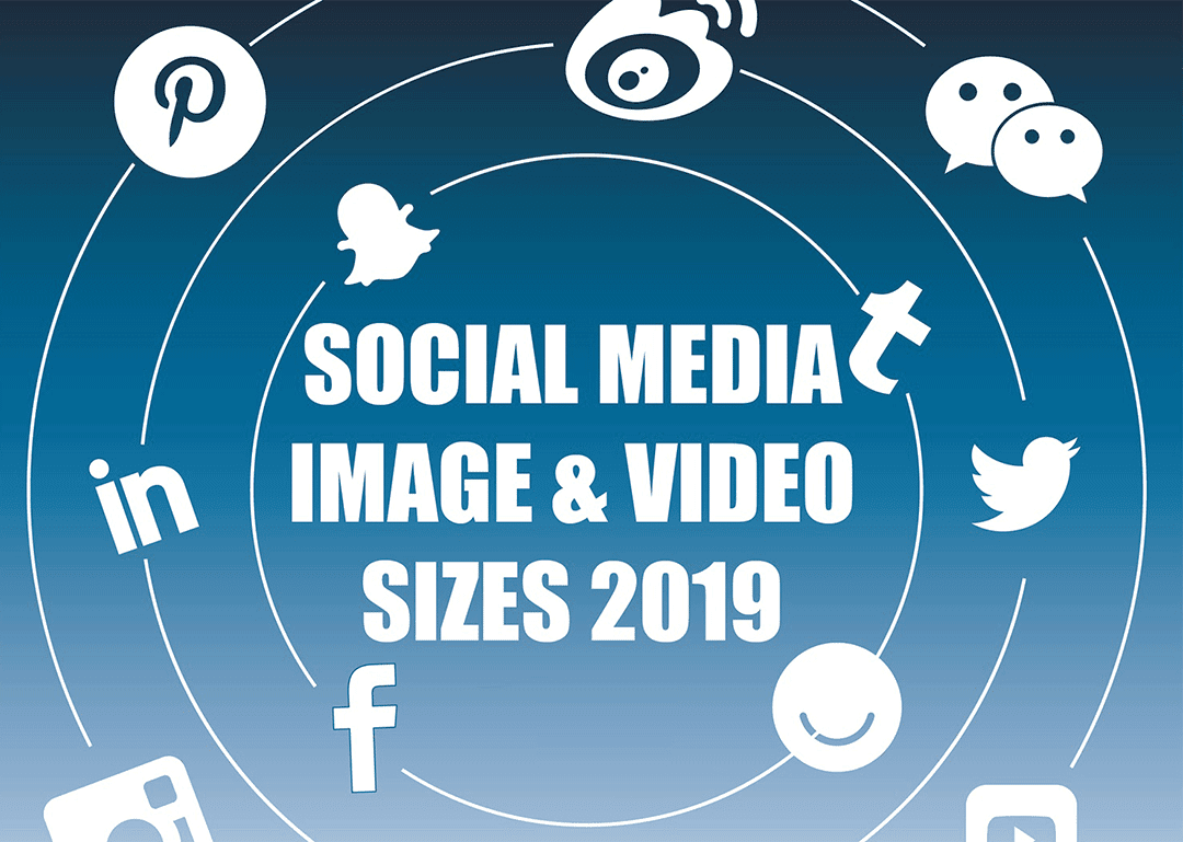 Social Media Images Size Guide for 2019 - infographic