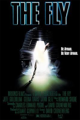Original poster art for the 1986 remake of THE FLY.
