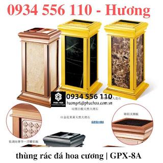 Thùng rác đá hoa cương cao cấp GPX-8A