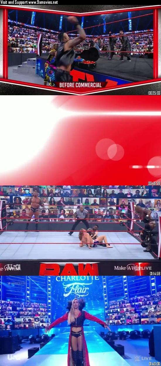 WWE Monday Night Raw 26 April 2021 HDTV 720p 480p 500MB