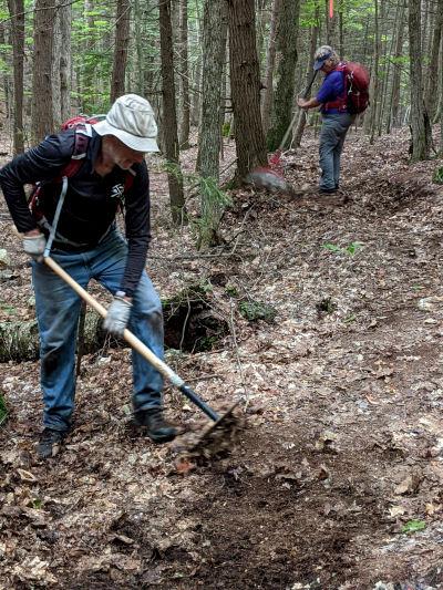 raking trail