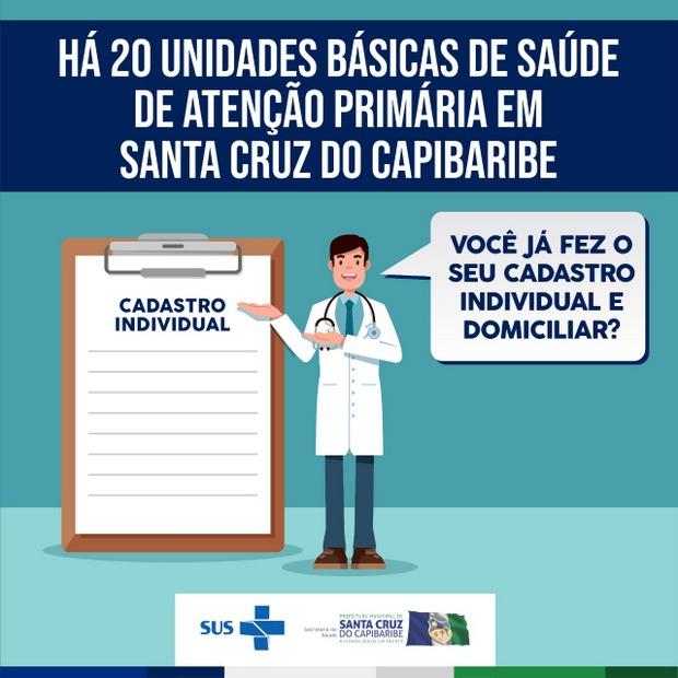 Atenção Básica de Santa Cruz do Capibaribe alerta sobre os Cadastros Domiciliar e Individual