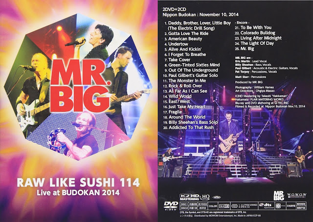 Mr. Big Performs in Nippon Budokan at Raw Like Sushi 114 on November 10, 2014