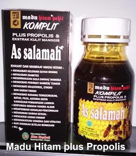 Jual khasiat manfaat madu hitam pahit propolis Asli as salamah
