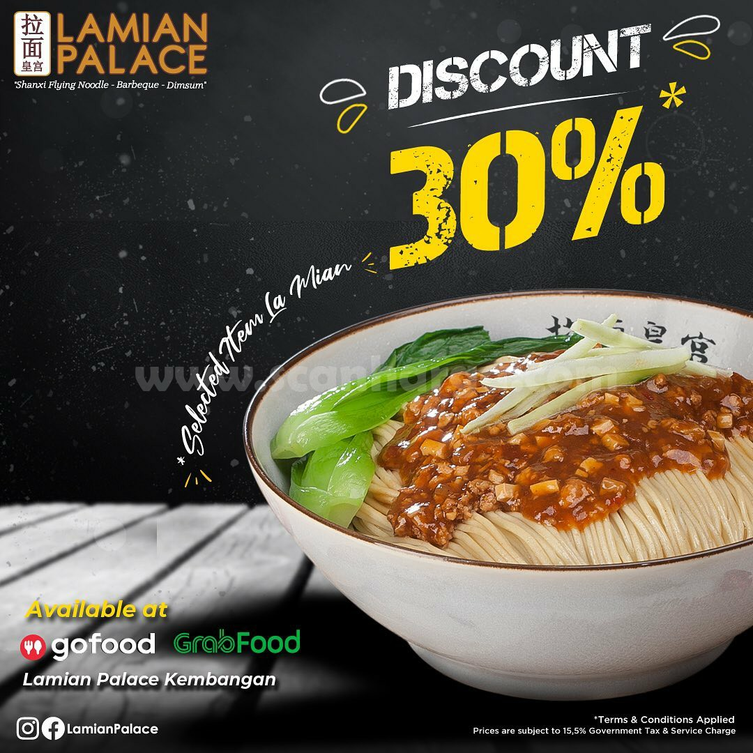 LAMIAN PALACE Promo DISKON 30% Pemesanan via GOFOOD & GRABFOOD