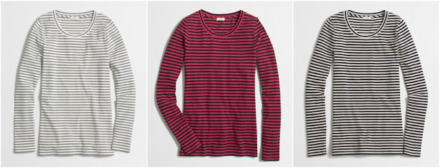 J. Crew Factory Striped Ribbed Long Sleeve Tee $8 (reg $37)