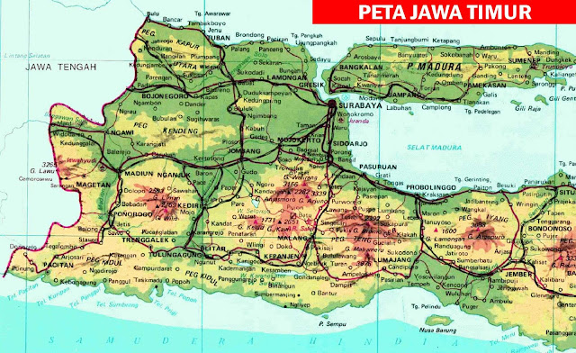 Gambar Peta Kabupaten di Jawa Timur
