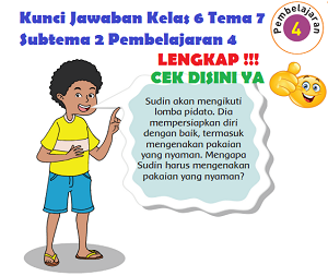 Kunci Jawaban Kelas 6 Tema 7 Subtema 2 Pembelajaran 4 www.simplenews.me
