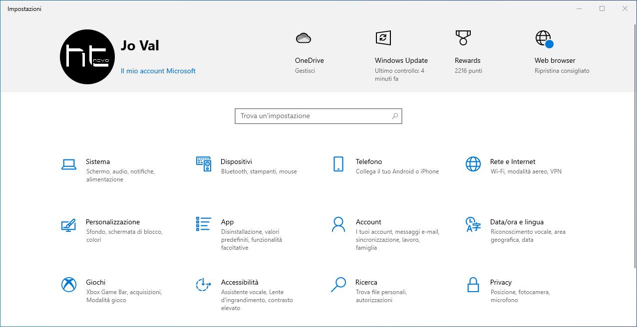 Microsoft promuove Edge anche nella Home di Impostazioni in Windows 10