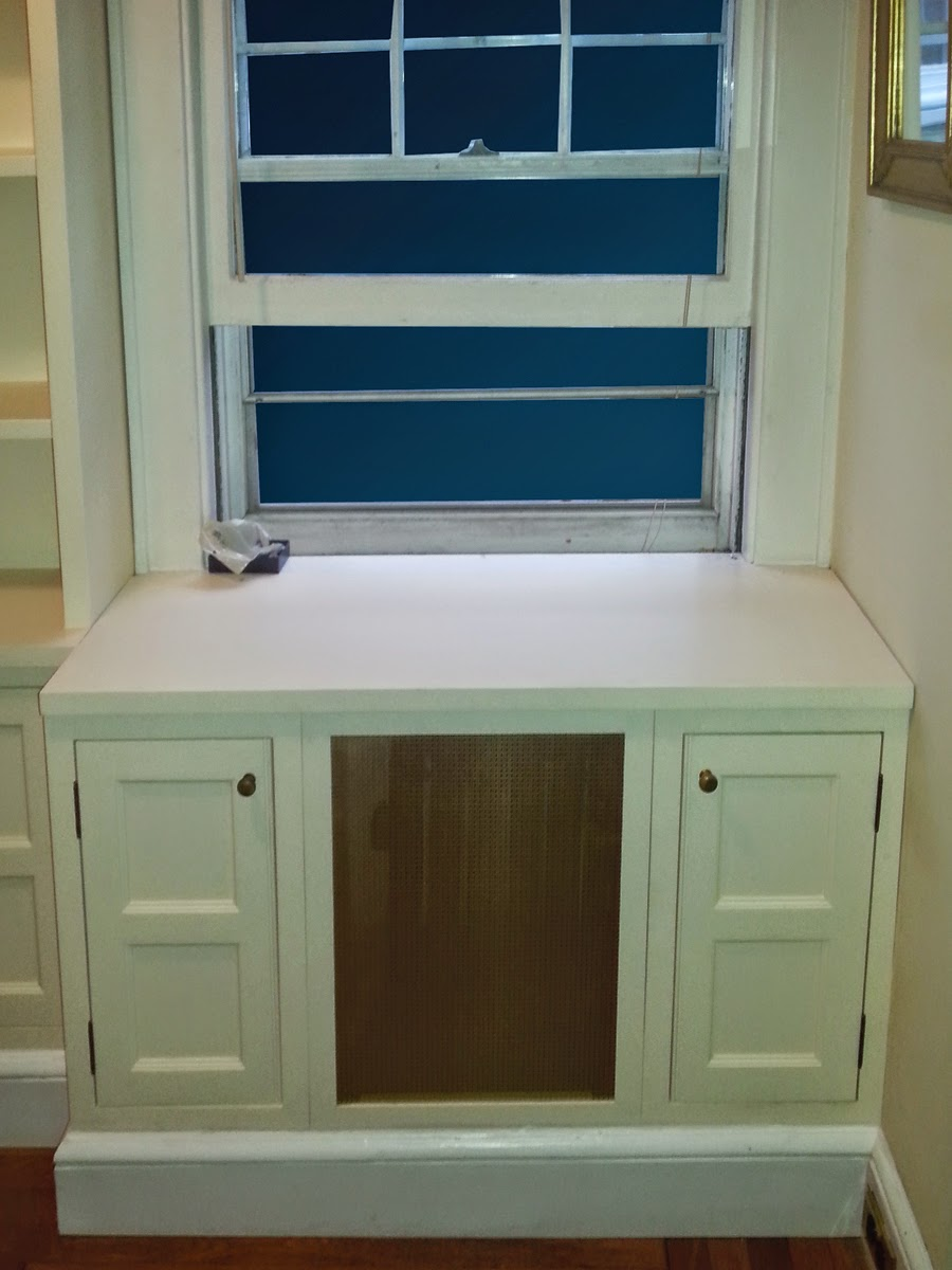 Removable Radiator Cover with Storage Compartments