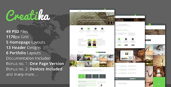 Responsive Business PSD Template