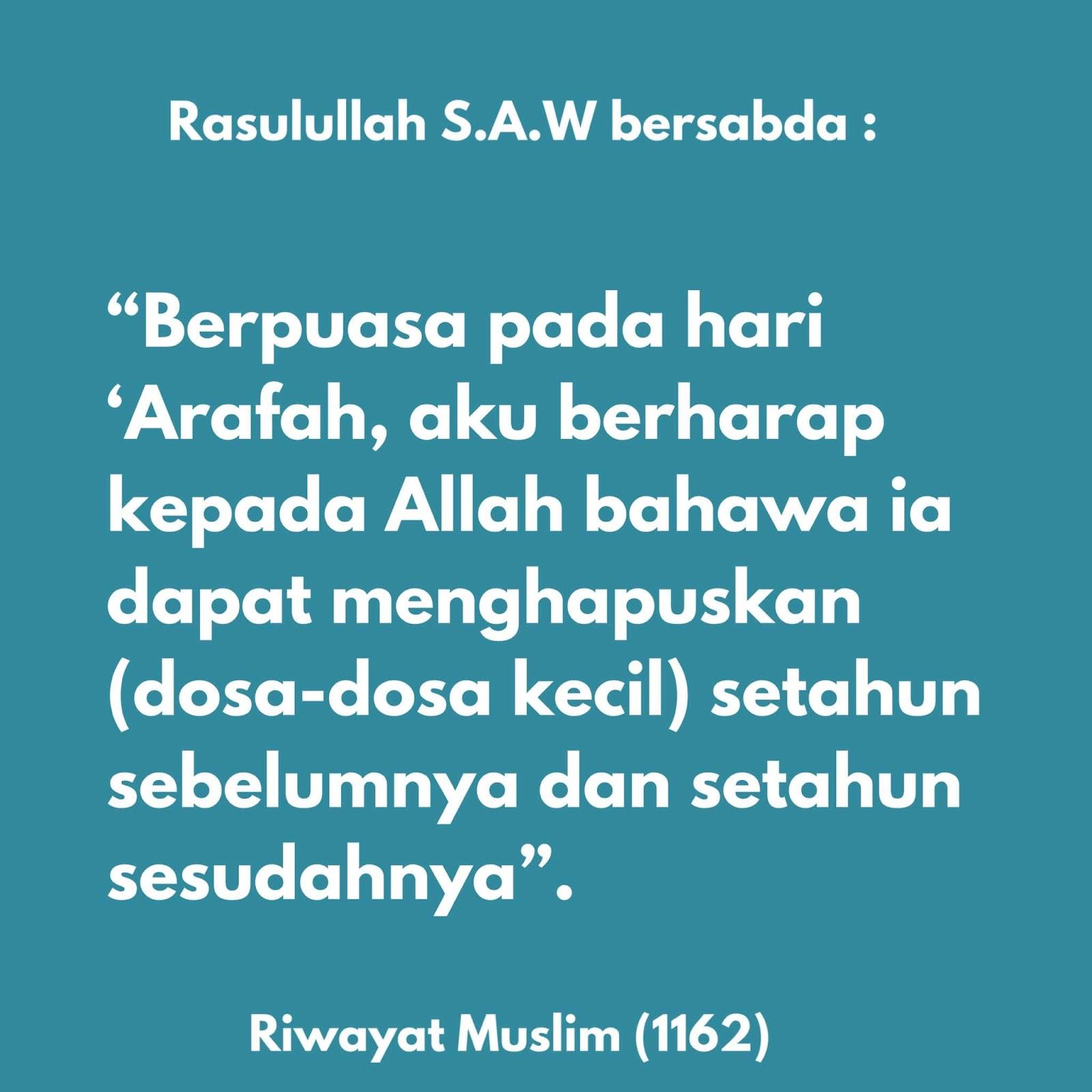 niat puasa hari arafah waktu arafah doa arafah kelebihan