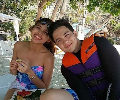 Alden and Maine spending some quality time at the beach