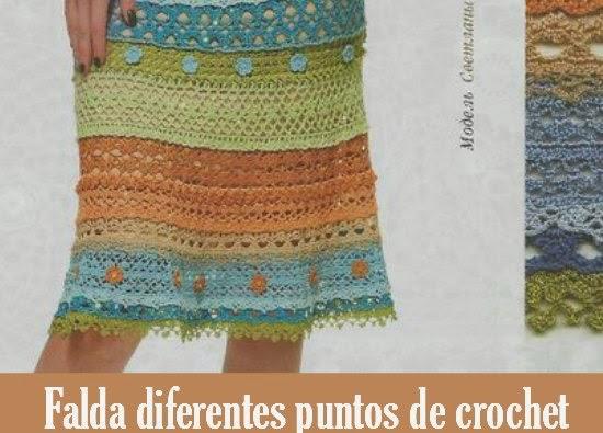 Faldas diferentes puntos de crochet