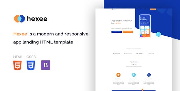 App Landing HTML Template
