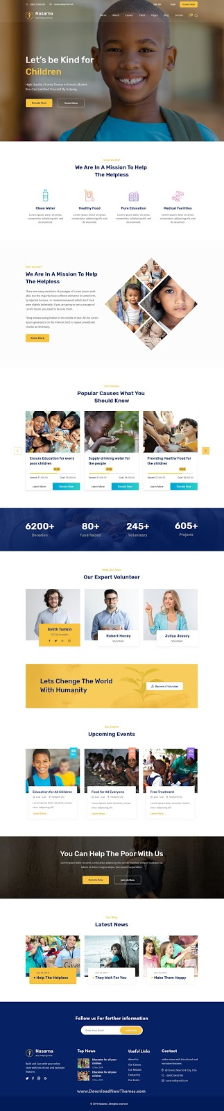 Nonprofit Charity PSD Template