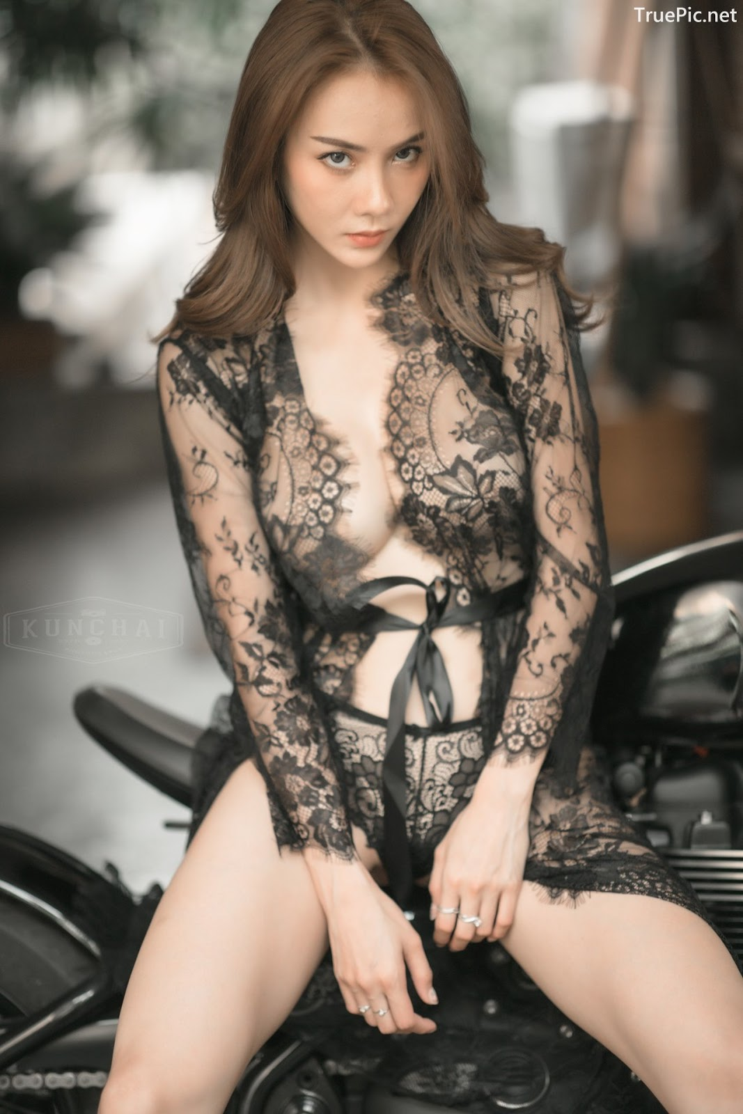Image Thailand Sexy Model - Soraya Upaiprom - Black Lace Lingerie - TruePic.net - Picture-7