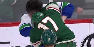 hockey nhl fight wild canucks